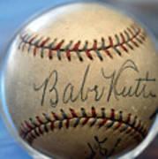 Babe Ruth Baseball. Art Print