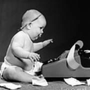 Baby Accountant Art Print