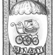 Baby Carriage Art Print