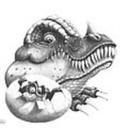 Baby Dinosaur Art Print