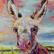 Baby Donkey Painting By Kim Guthrie Art Art Print