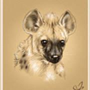 Baby Hyena Art Print
