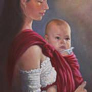 Baby In Rebozo Art Print
