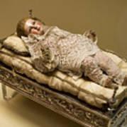 Baby Jesus In Lace Art Print