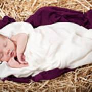 Baby Jesus Nativity Art Print by Cindy Singleton
