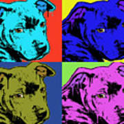 Baby Pit Face Art Print by Dean Russo