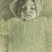 Baby Self Portrait Art Print
