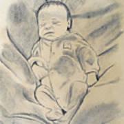 Baby Sleeping Art Print