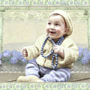Baby Wears Beads Art Print