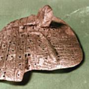 Babylonian Cuneiform Art Print