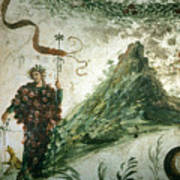 Bacchus, Roman God Of Wine, Stands Art Print