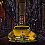 Back Alley Taxi Cab Art Print