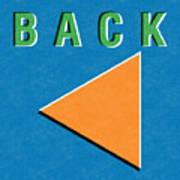 Back Button Art Print