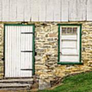 Back Entrance To An 1803 Amish Corn Barn  -  1803pacornbarn172779 Art Print