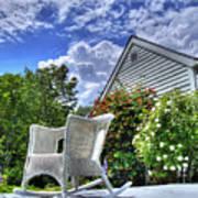 Back Porch In Summer Art Print