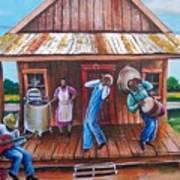 Back Porch Jamming Art Print