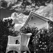 Back Porch Rocking Chair Art Print