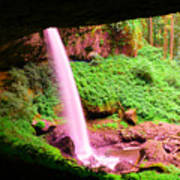 Back Side Of Silver Falls Art Print