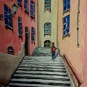 Back Street In France Art Print