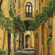 Back Street In Italy Art Print by Charlotte Blanchard