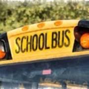 Back To School Bus Watercolor Art Print