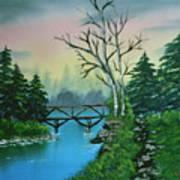 Back Woods Bridge Art Print