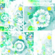Colour Choice Poppy Collage Art Print