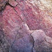 Background Dark Detail Block Of Stone Art Print