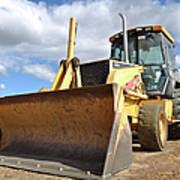 Backhoe Tractor Construction Art Print