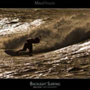 Backlight Surfing - Maui Hawaii Posters Series Art Print
