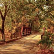 Backroads River Bridge Art Print