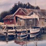 Backwater Fish Shack Art Print