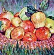 Backyard Apples Art Print