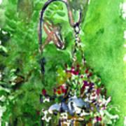 Backyard Hanging Plant Art Print
