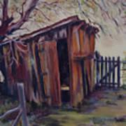 Backyard Shed Art Print