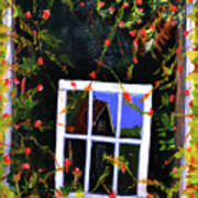 Backyard Window Art Print