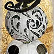 Bad Cat Halloween Art Print