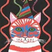 Bad Cattitudes Birthday Art Print