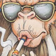 Bad Monkey Art Print