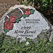 Badger Rose Bowl Win 1999 Art Print