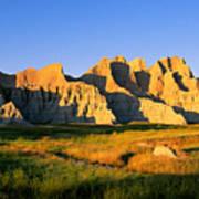 Badlands Buttes, South Dakota Art Print