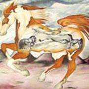Badlands Horses Art Print