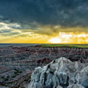 Badlands Np Pinnacles Overlook 2 Art Print