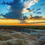 Badlands Np Wilderness Overlook 1 Art Print