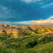 Badlands Np Yellow Mounds Overlook  Art Print