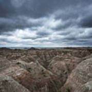 Badlands White River Valley  Art Print