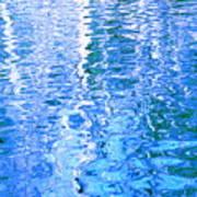 Baffling Blue Water Art Print