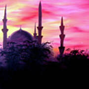 Baghdad Sunset Art Print