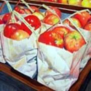 Bags Of Apples Art Print