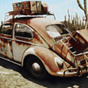 Baja Bug Art Print